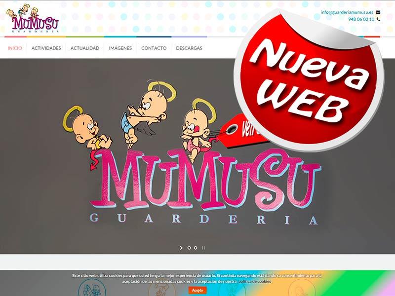 nueva web guarderia mumusu