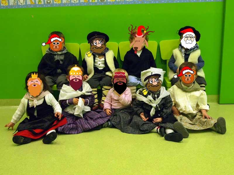 foto de grupo Navidad